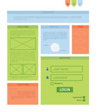 Vector rectangle background template. Infographic template with Stock Photo