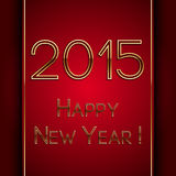 Vector rectangle red greeting new year 2015 Royalty Free Stock Images