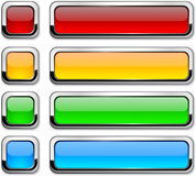 Vector rectangular buttons on white. Royalty Free Stock Photo