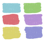 Vector rectangular colorful shapes Stock Images