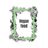 Vector rectangular frame of vegetables Royalty Free Stock Photo
