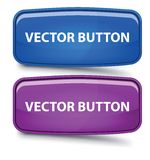 Vector Rectangular Glass Button Stock Photos