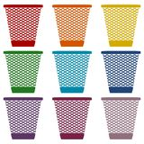 Vector Recycle Bin Trash and Garbage icons set Royalty Free Stock Photography