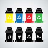 Vector recycle bins Stock Images
