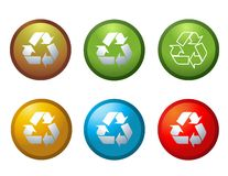 Vector recycle buttons icons Stock Images