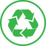 Vector recycle icon Royalty Free Stock Photos
