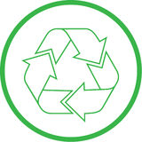 Vector recycle icon Stock Photo