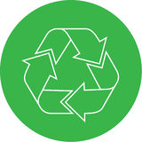 Vector recycle icon Royalty Free Stock Photography