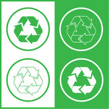 Vector recycle icons Stock Photos