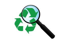 Vector recycle sign royalty free stock images