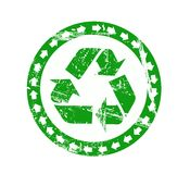 Vector recycle sign Royalty Free Stock Photos