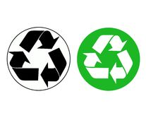 Vector recycle sign Stock Photos