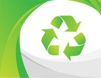 Vector recycle sign Royalty Free Stock Photo