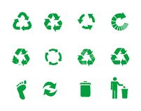 Vector recycle signs royalty free stock photo