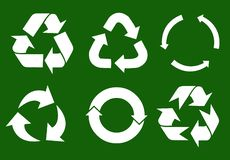 Vector recycle signs stock photo