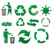 Free Vector Recycle Signs Royalty Free Stock Photography - 7465527
