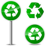Vector recycle signs Stock Images