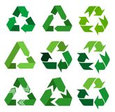 Vector recycle signs Royalty Free Stock Photos