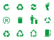 Vector recycle signs Stock Photos
