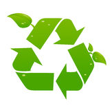 Vector recycle signs Royalty Free Stock Images