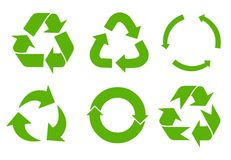 Vector recycle signs Royalty Free Stock Photography