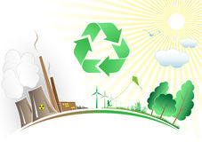 Vector recycle symbol royalty free illustration