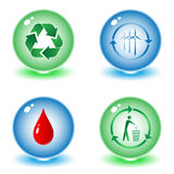 Vector recycle symbols. Illustration. Simply change. Other ecological vectors you can see in my portfolio Stock Photo