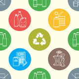 Vector recycle waste seamless pattern Royalty Free Stock Images