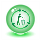 Vector recycling bin. Illustration. Simply change. Other ecological vectors you can see in my portfolio Royalty Free Stock Photography