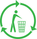 Vector recycling bin icon Stock Images