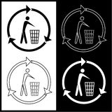 Vector recycling bin icons Stock Photo