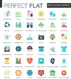 Vector Recycling energy complex flat icon concept. Web infographic icons design. Royalty Free Stock Photography