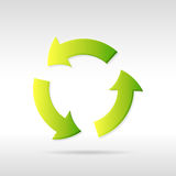 Vector recycling icon Royalty Free Stock Photography
