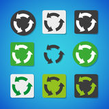 Vector recycling icon set Stock Photo