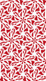 Vector red abstract damask seamless pattern on white background.  Stock Photos