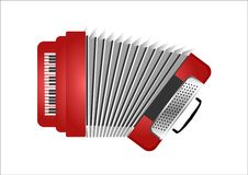 Vector Red Accordion Royalty Free Stock Photos
