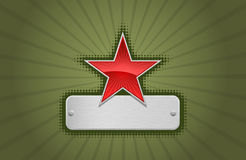 Vector Red And Green Star Frame Stock Photo