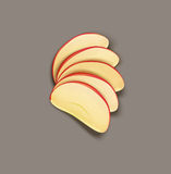 Vector red apple slices isolated Stock Photography