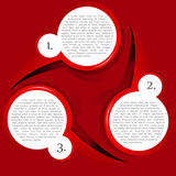 Vector red background with a circular chart Stock Photos