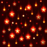 Vector red background with falling stars Royalty Free Stock Photography