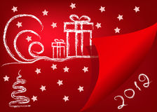 vector red backround new year Royalty Free Stock Photo