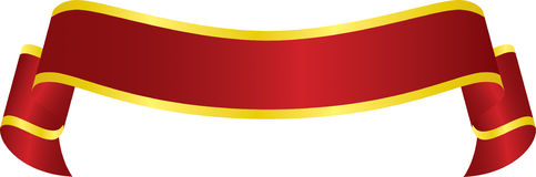 Vector Red Banner. On white background Royalty Free Stock Photos