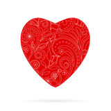 Vector Red Beautiful Greeting Floral Heart Stock Images