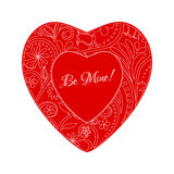 Vector Red Beautiful Greeting Floral Heart Stock Photo