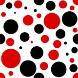 Vector red and black dot geometry pattern. color abstract geometric background . creative art deco. hipster fashion print. Eps 10 Royalty Free Stock Images