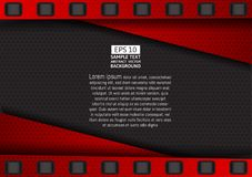Vector Red and Black geometric background Stock Photos
