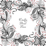 Vector red, black and white floral pattern Royalty Free Stock Photos