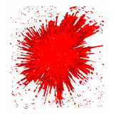Vector red BLOB Stock Image