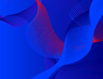 Vector Red & Blue wave forms Stock Photo