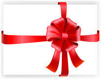 Vector red bow. Vector illustration of tape and bow Stock Photography